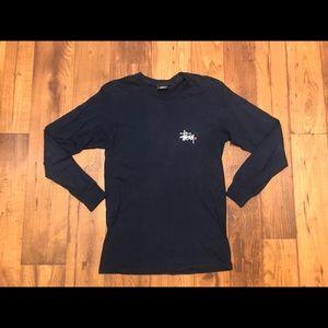 Stussy Shirts - VTG STUSSY PAINT SPLASH LS SHIRT SZ S